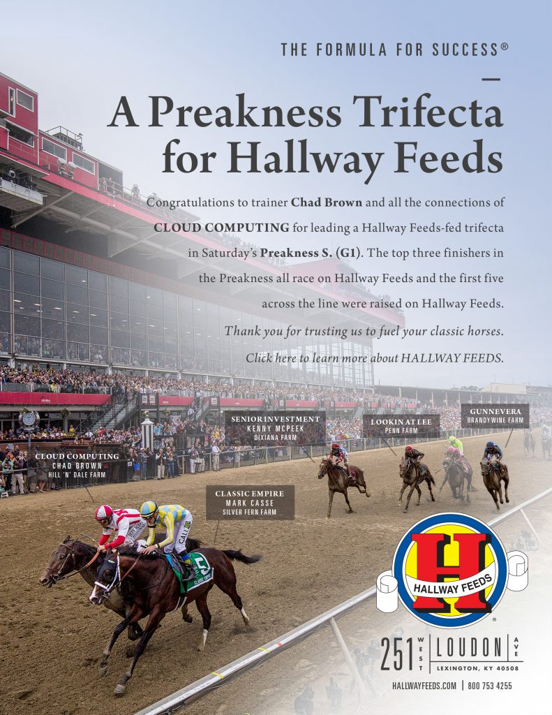 A Preakness Trifecta for Hallway Feeds